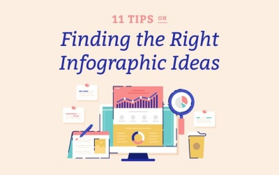 11 tips finding the most engaging topic for infographics vector icon