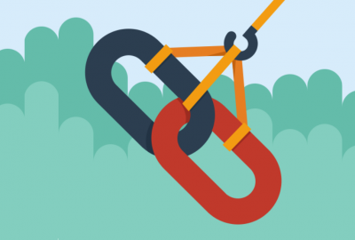 link chains linking vector icon