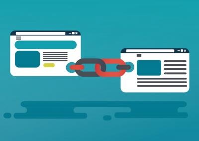 seo vector illustration of link building