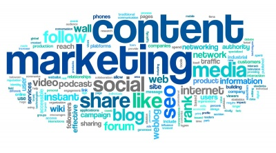 content marketing seo video - collage internet marketing techniques vector icon