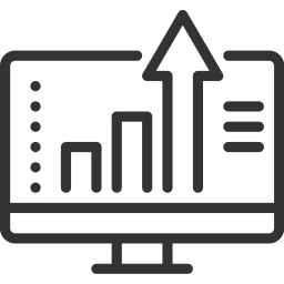 seo campaign development growth chart icon